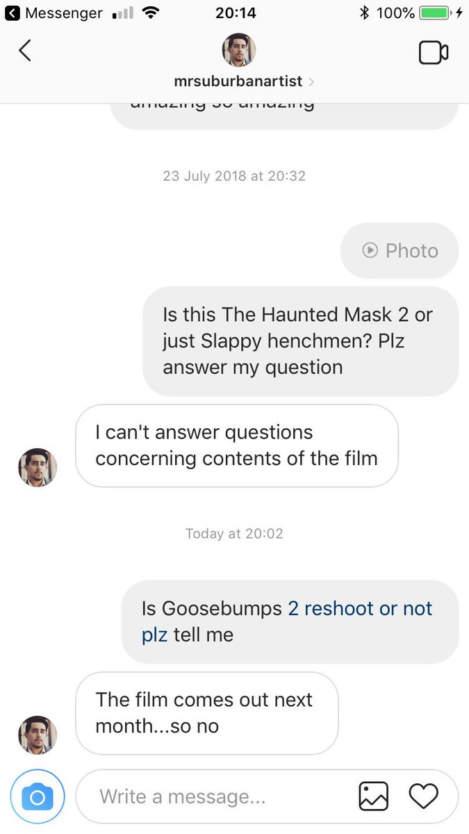 @ATLWOOD411 hey Can you plz Tell Atlanta Filming there is reports of no Goosebumps Haunted Halloween Reshoot because it will come out next month sincerely marvel fan