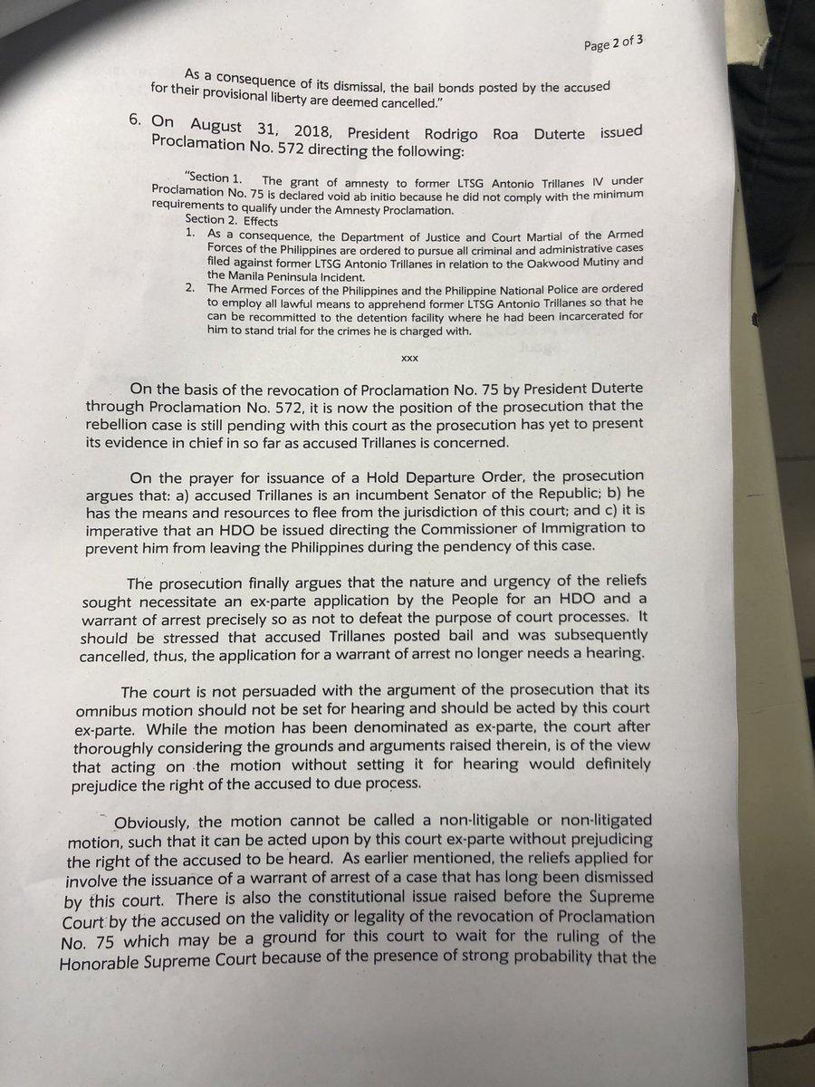 Makati rtc branch 150 judge elmo alameda also sets september