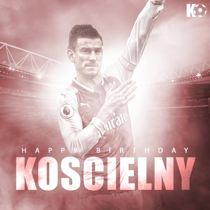 The Arsenal defender turns 33 today! Join in wishing Laurent Koscielny a Happy Birthday!