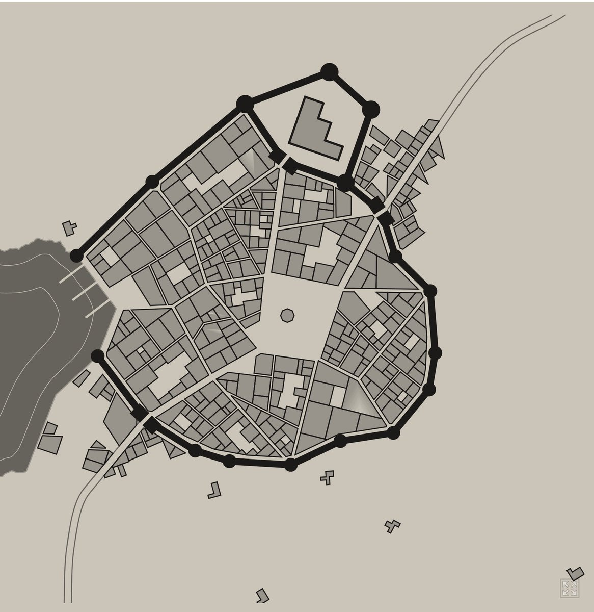 OMG! This is so awesome! A medieval city generator. Perfect for all you #RPG folks.  https://t.co/i1KUVIpfBe https://t.co/6qcp20p64F