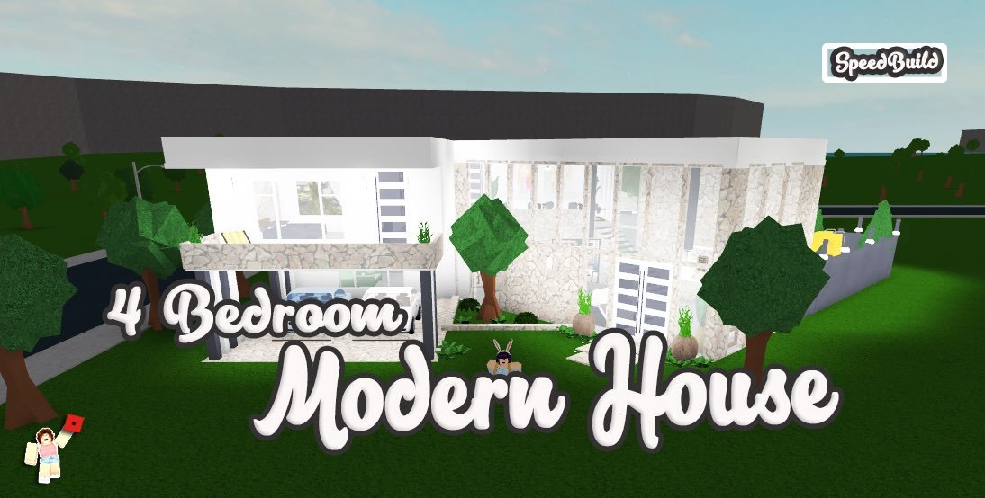 Modern House In Bloxburg Roblox 7