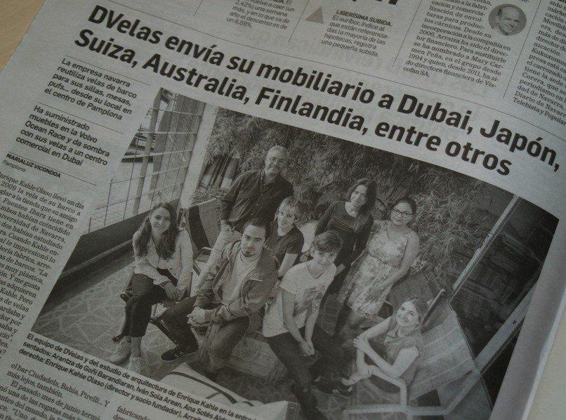 Ayer, la firma @dvelasdesign, que apoyamos en CEIN, fue protagonista en @DiariodeNavarra impreso. Un reportaje de @marialuzv. ¡Muchas felicidades por vuestros éxitos!