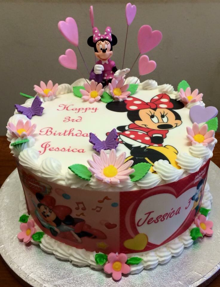 Groovy The Danes Bakery On Twitter Minnie Mouse Birthday Cake Ideas Personalised Birthday Cards Veneteletsinfo