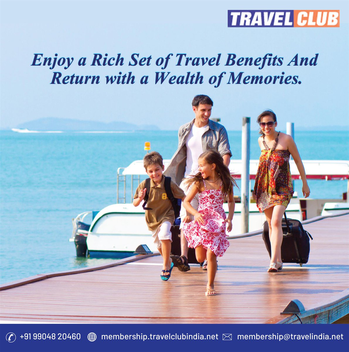 Enjoy your vacation with a travel club and come with joy and joyful experience.  Contact Us for more details Website :  http:// membership.travelclubindia.net     Mail id – membership@travelindia.net Mobile : +91 990 4820 460  #TravelClubMembership <br>http://pic.twitter.com/4E4Lb1mvkC