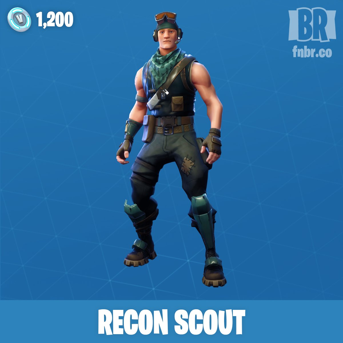 fortnite news fnbr news on twitter fyi grill sergeant was replaced by recon scout in today s item shop did anyone pick it up before it went - fortnite grill sergeant skin