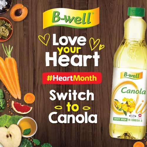 B Well Foods On Twitter Heartmonth Monounsaturated Fat Can Help Reduce Bad Cholesterol Levels In Your Blood Which Can Lower Your Risk Of Heart Disease And Stroke B Well Canola Oil Is High In