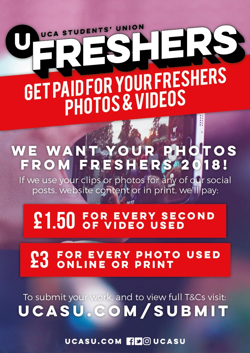 test Twitter Media - Want to get paid for your Freshers photos and videos? We're looking for content submissions during September from all of our Freshers events, and if we use your work, you'll get paid! For more information and to submit your work, visit https://t.co/tWbdbNRVjr #UCAFreshers https://t.co/r8PvbJqGeu