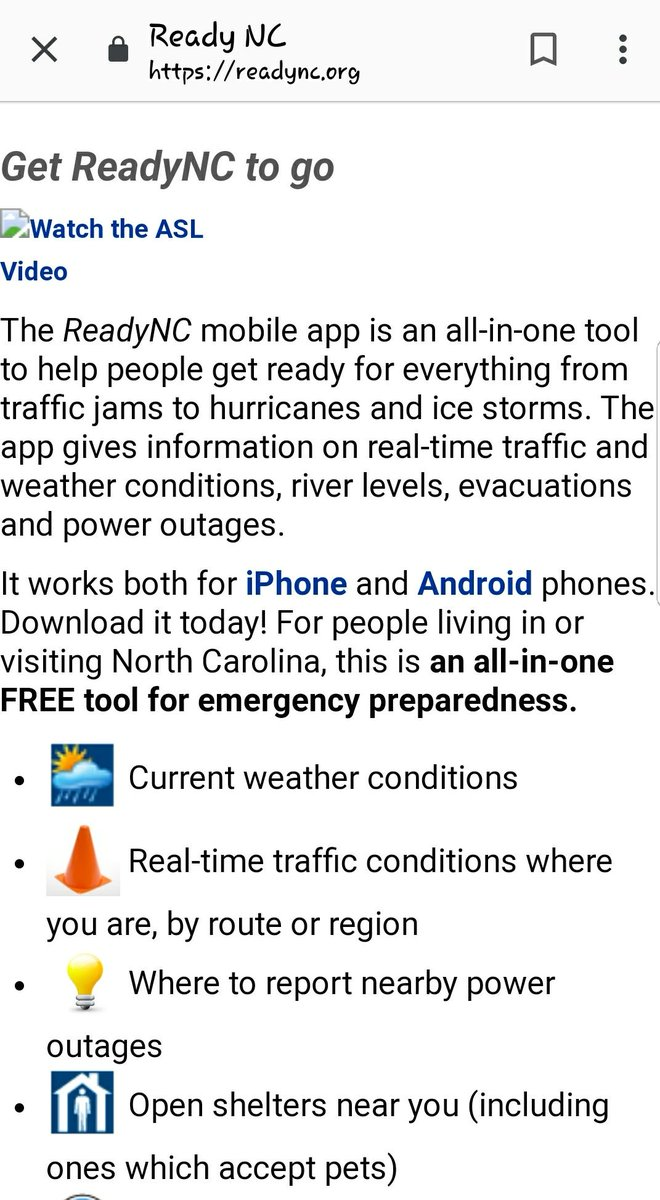 🌀📢 #HurricaneFlorence #Flooding Inland   💥#NorthCarolina http://Readync.org  has an excellent App📱 💥Includes valuable ℹ⤵ #Resources #Shelters #Evacuation #MakeAPlan #RoadClosures #Updated weather   #StayInformed ❣ #DisasterAssistTeam https://readync.org/EN/DOWNLOADAPP.html …