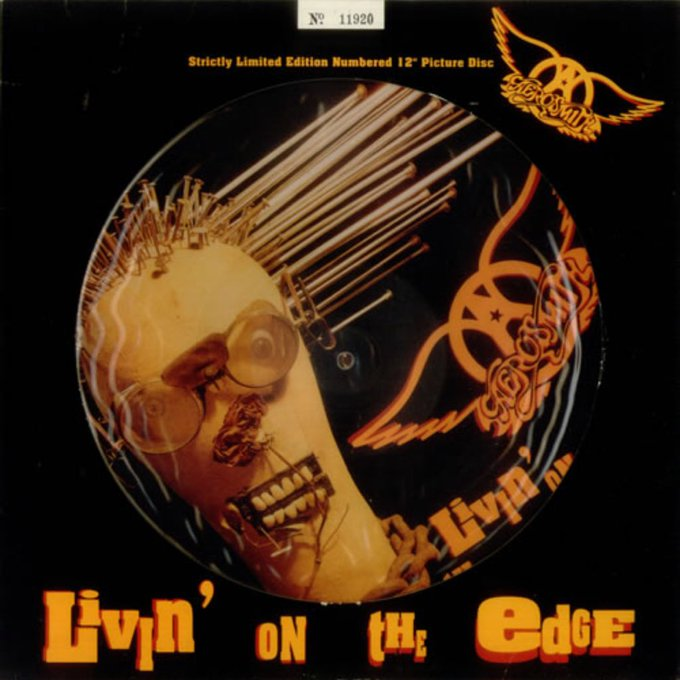 Aerosmith Livin\ on the Edge / 1992  1993 album Get a Grip  Happy Birthday Joe Perry