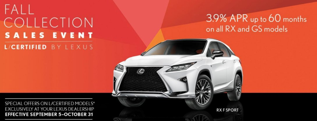 The Fall Collection Sales Event L/Certified By Lexus Will Be Going On All  September And October At Ray Catena Lexus Of Monmouth!  Https://bit.ly/2CDUteW ...