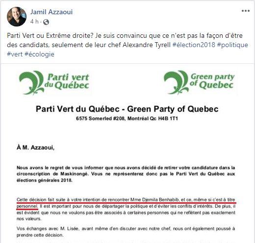 Robert Deragon On Twitter Le Parti Vert Du Quebec Ecarte Un