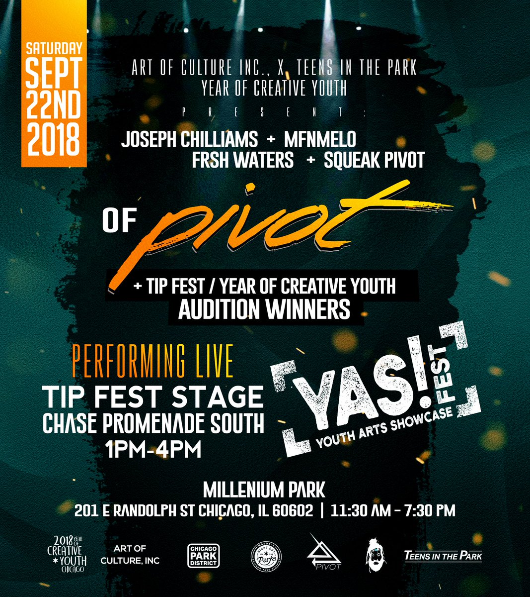 Guess who is headlining the TIP Fest Stage at YAS! Fest on 9/22? See flyer for details! 🧐😱😬🎤🎧