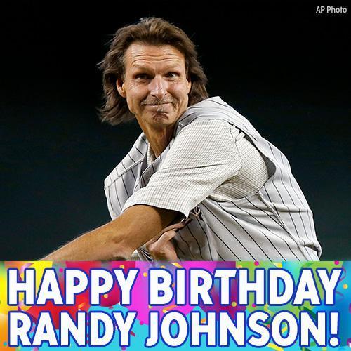 Happy Birthday to baseball great Randy Johnson!