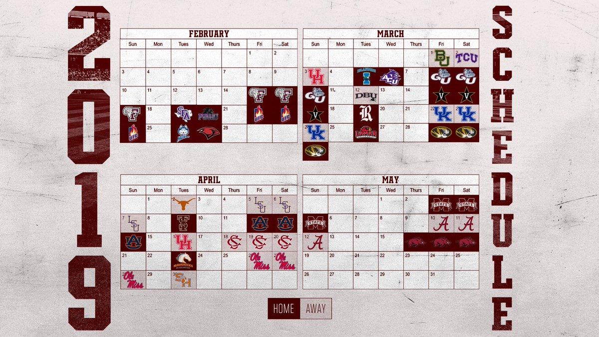 Tamu 2019 Calendar Texas A&M Baseball on Twitter: