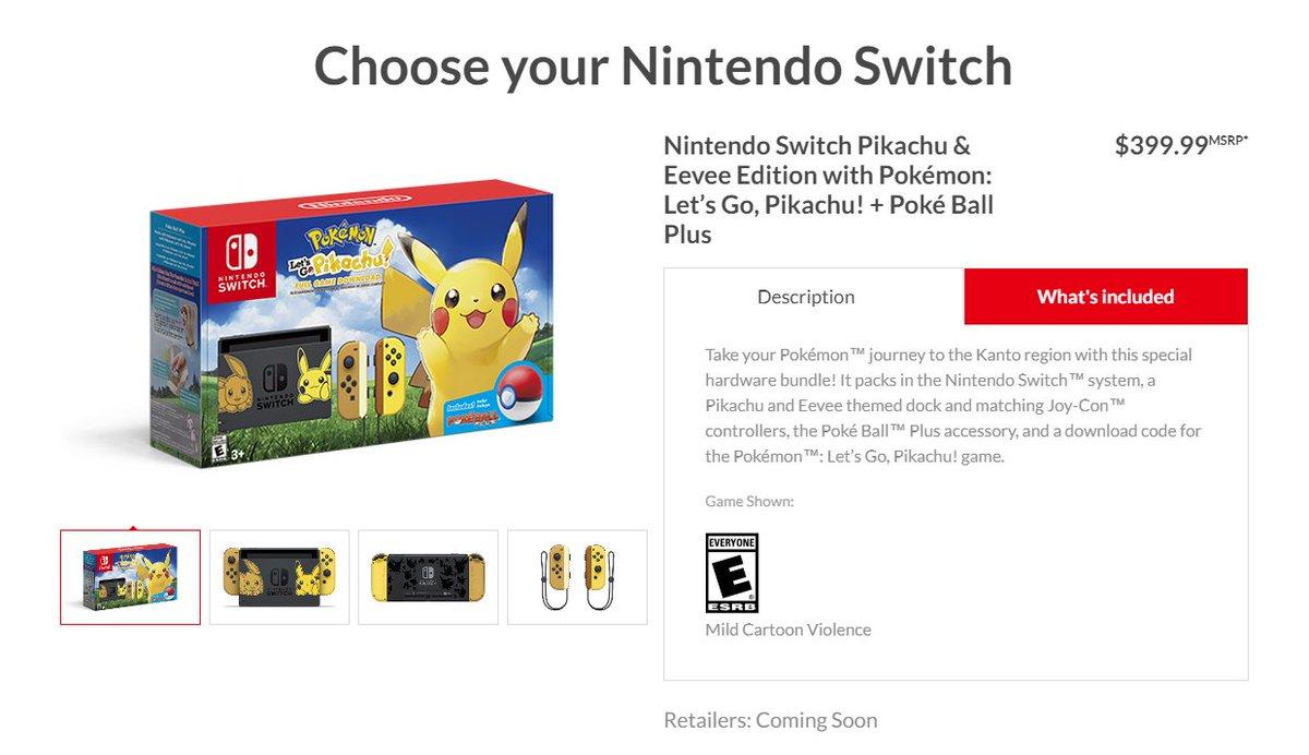 Wario64 On Twitter Nintendo Switch Pikachu Eevee Edition With