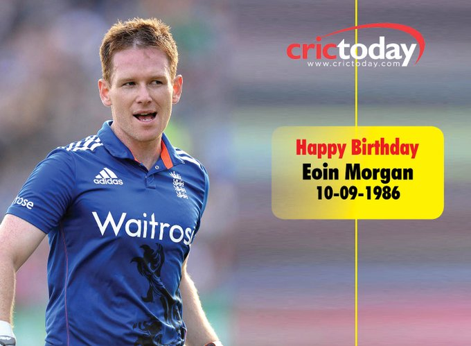 Wishing Eoin Morgan A Very Happy Birthday