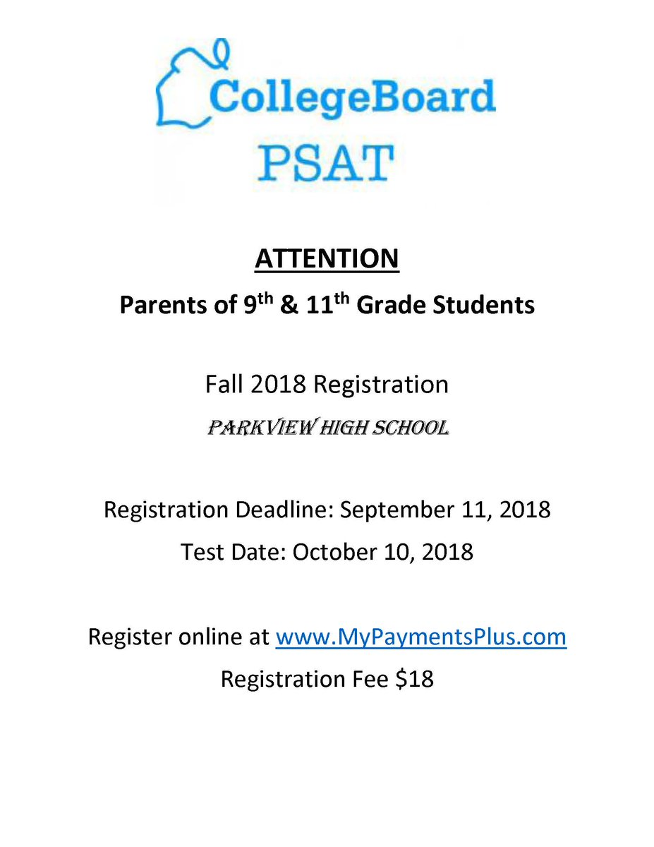 test Twitter Media - Juniors - planning to take the SAT? Practice first by taking the PSAT on October 10. Sign up today at https://t.co/XT1nukcyDt https://t.co/1C6taBqc68