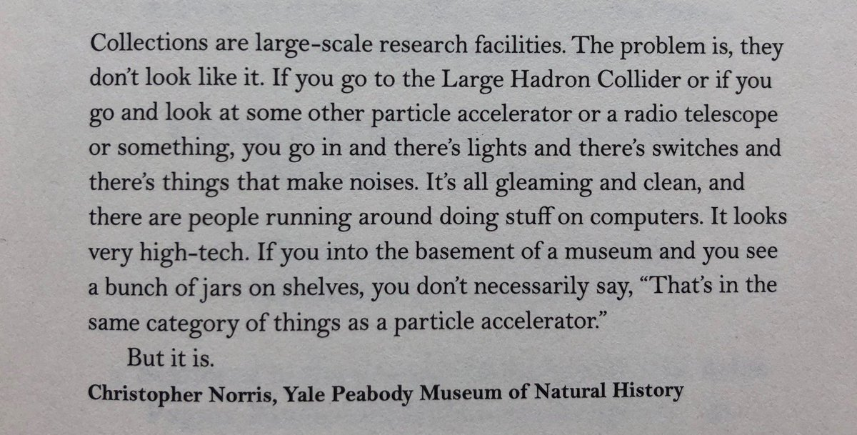 One of my favorite quotes about natural history museums & what they represent for scientific inquiry