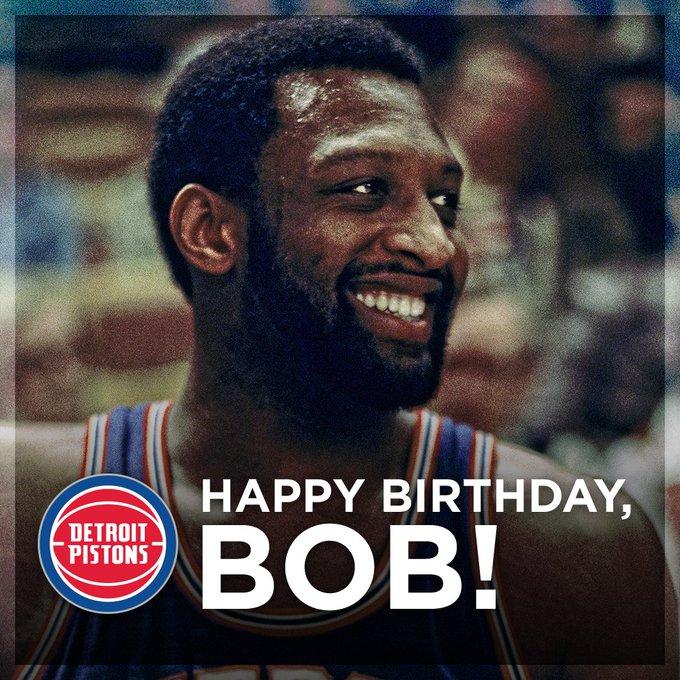 "NBA \""DetroitPistons: Big day for birthdays.  Happy Birthday to the legendary Bob Lanier!"