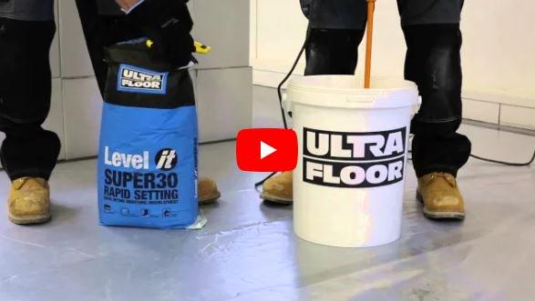 Ultrafloor On Twitter Video Level It Super30 Rapid Setting
