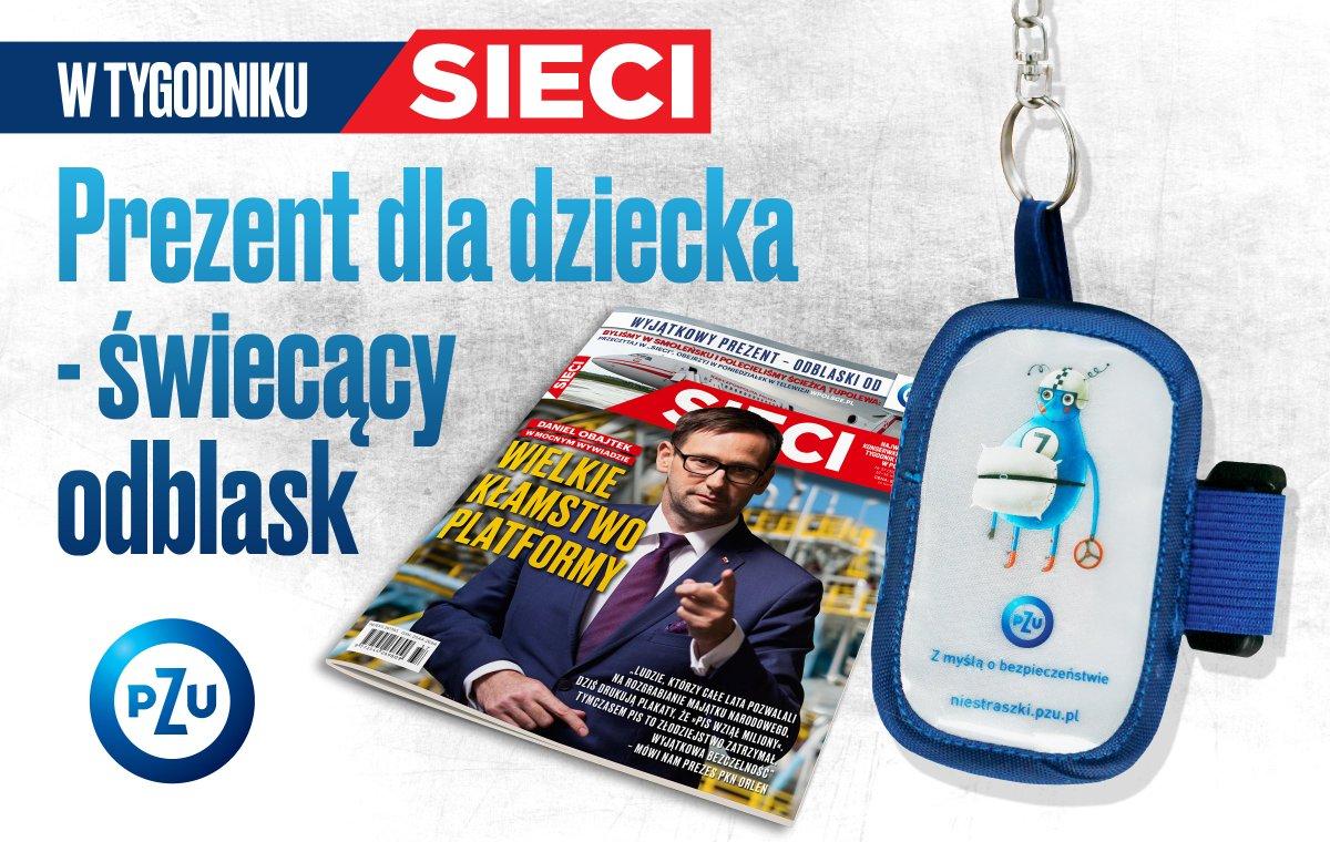 Wyjątkowy gratis z nowym @Tygodnik_Sieci! Świecący na czerwono odblask dla Twojego dziecka od @GrupaPZU! https://t.co/0zy9Mbrovu