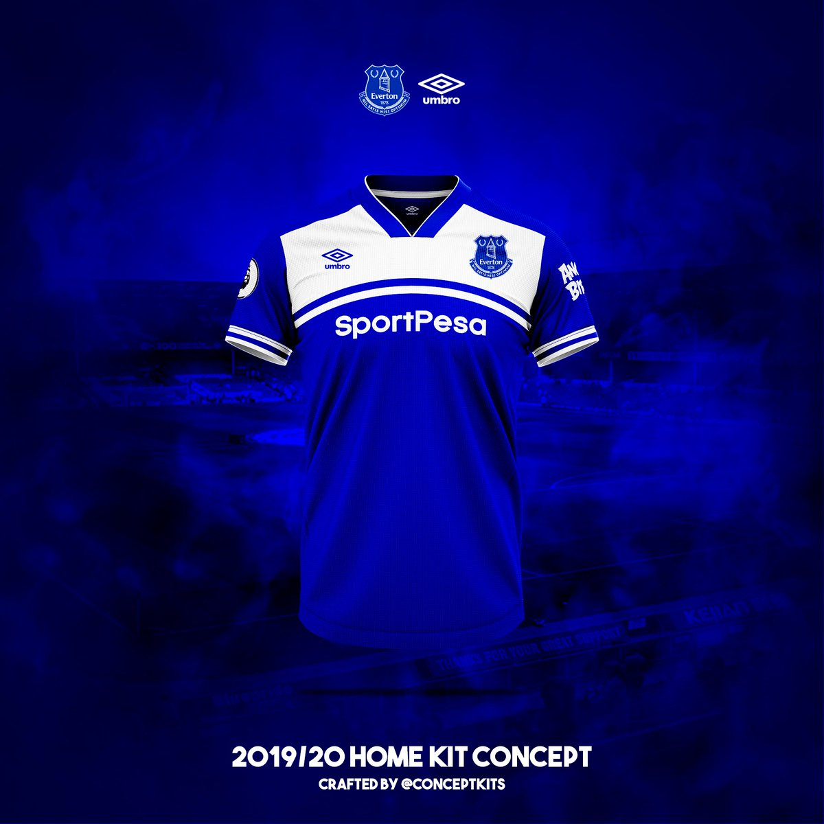9a65bf3282f Everton Football Club home, away and third kit concepts 2019/20. #EFC  #EvertonFC #Toffees #GoodisonPark #NilSatisNisiOptimum #everton #umbro ...