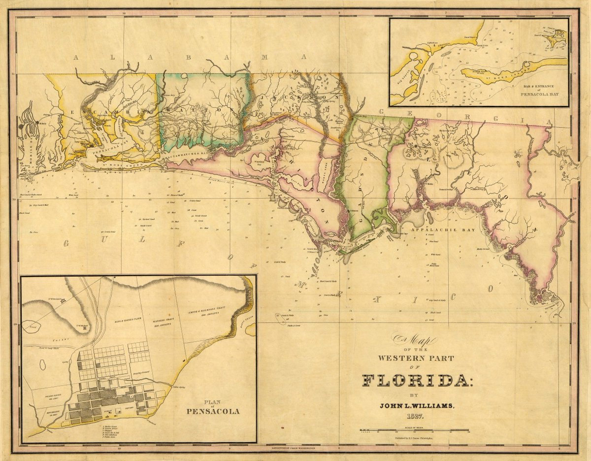 Map Western Florida.Florida Memory On Twitter Williams S 1827 Map Of Western Florida