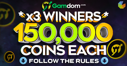 🔥 GLEAM: 150,000 x3 COINS Giveaway 🔥  Another cool Gleam giveaway, this week three lucky winners will pick up  🎁 150,000 Coins (site balance) each! 🎁  ✅ ENTER HERE: https://gleam.io/0W1Cq/gamdom-150000-coins-x3-giveaway …  Remember to collect daily entries! Ends in 7 days! https://Gamdom.com   🤑