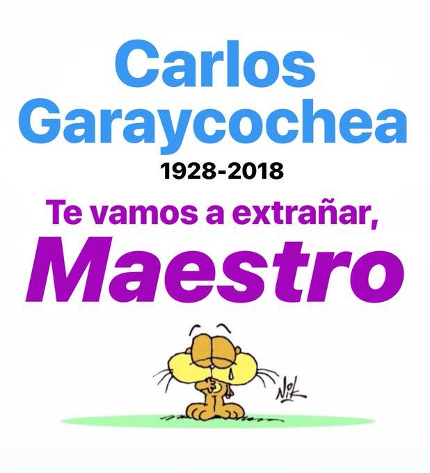 Carlos Garaycochea 😓 Te vamos a extrañar, Maestro! ✏️✏️✏️📖📙📗#BuenLunes Foto