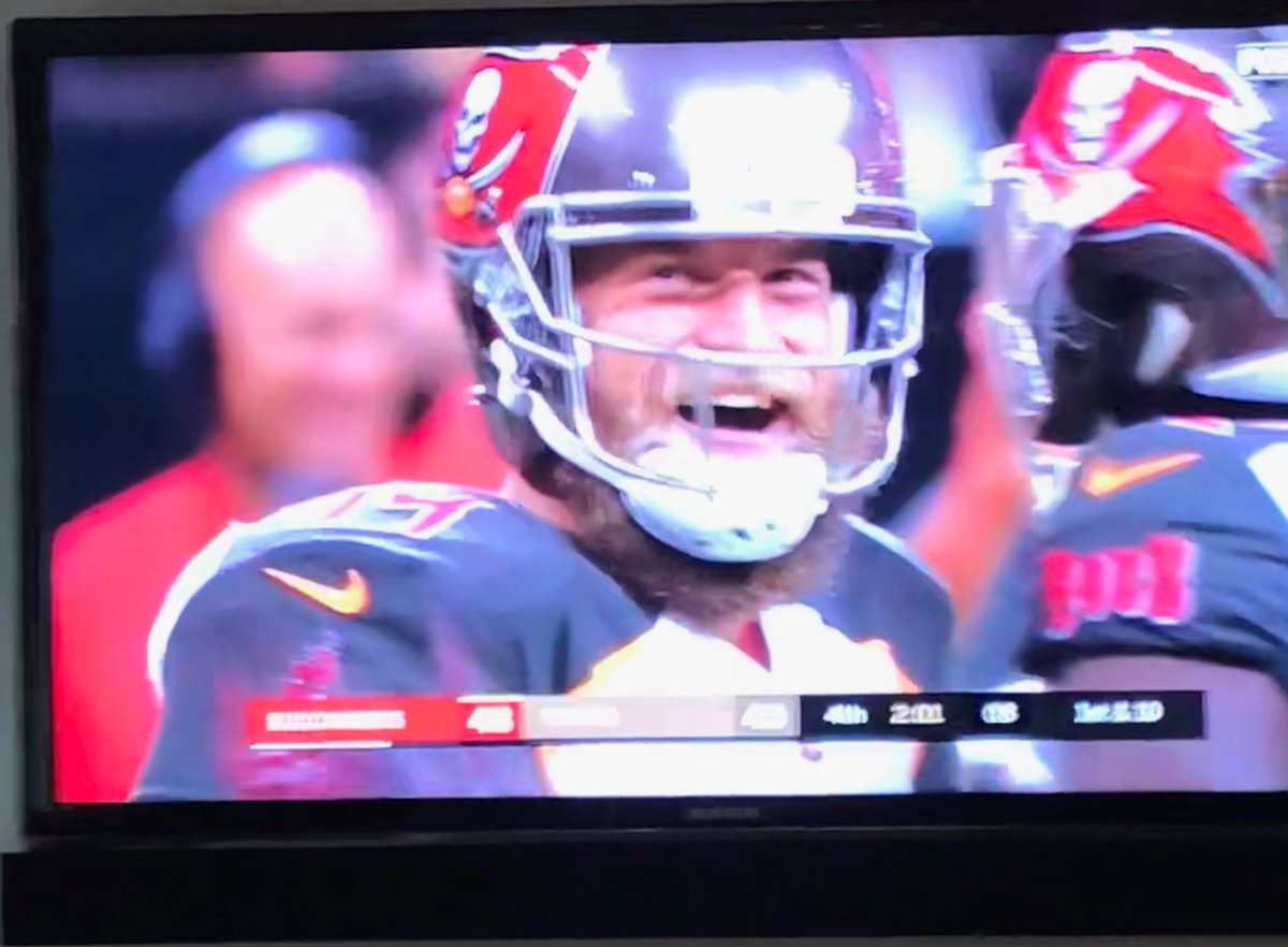 My favorite moment from #NFLSunday - Backup QB from Harvard saves the day and wins the game! #Bucs