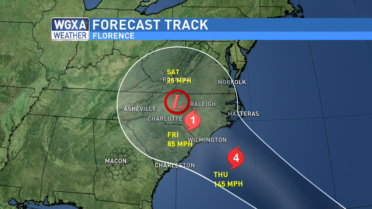 Jeff Cox On Twitter Florence The 11 Am Track Shows The Storm