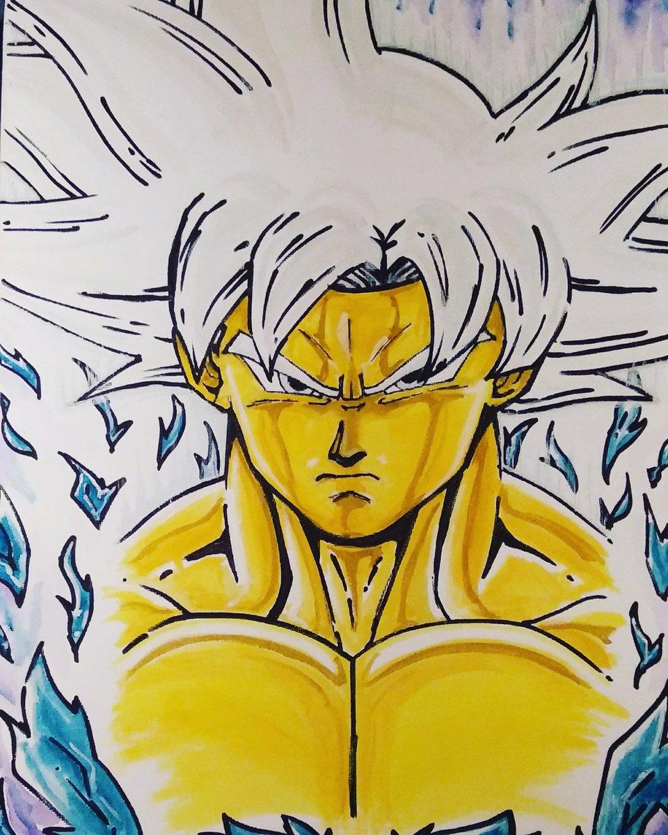 Sémi Larson On Twitter Peinture Sur Toile Goku Ultra