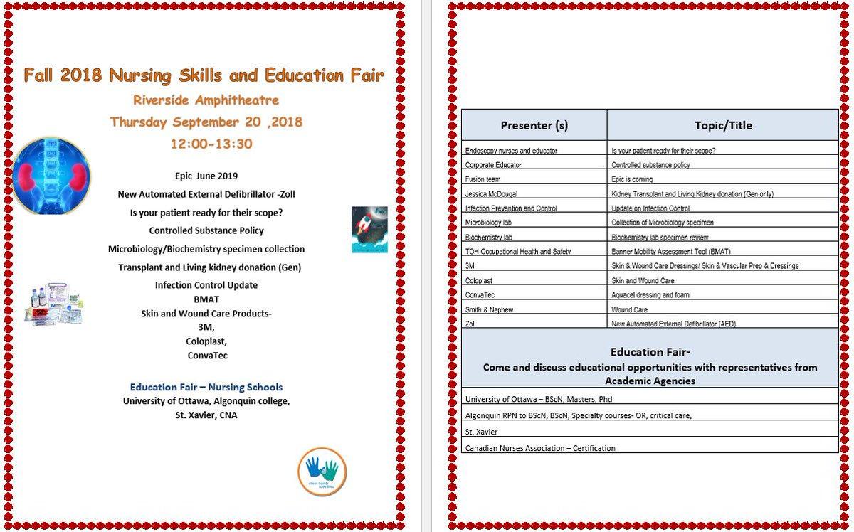 Toh Nurses On Twitter Reminder Nursing Skills And Education Fair