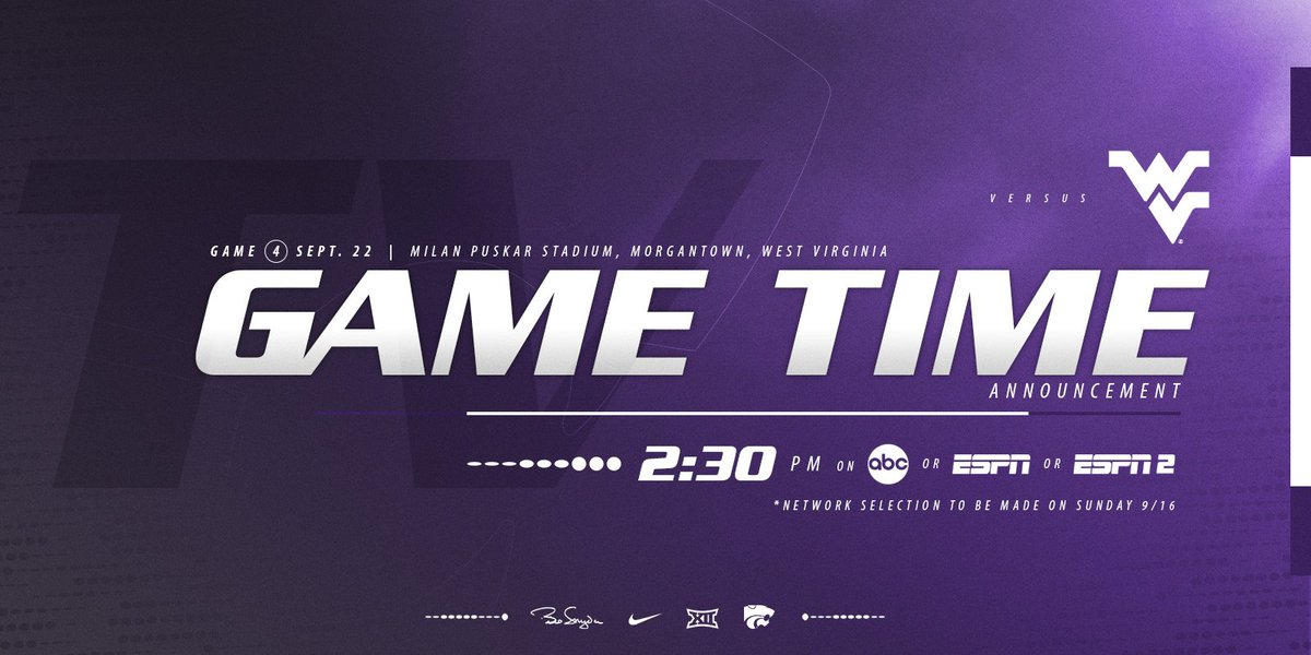 K State Football On Twitter States Big 12 Opener At West