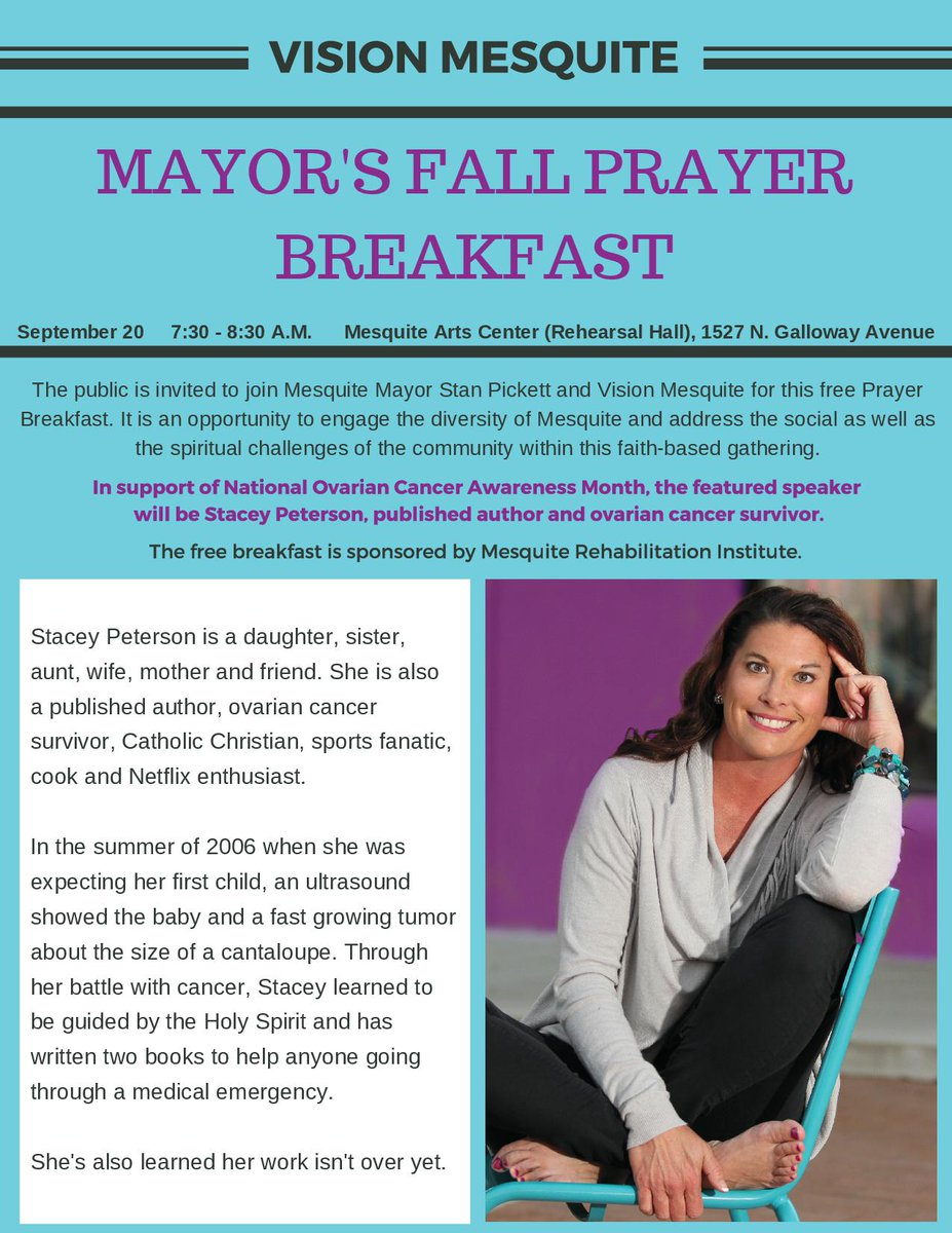 City Of Mesquite Tx On Twitter Shpick Mayor Stan Pickett And Vision Mesquite Will Host A Prayer Breakfast On September 20 7 30 8 30 A M Mesquite Arts Center The Speaker Will Be
