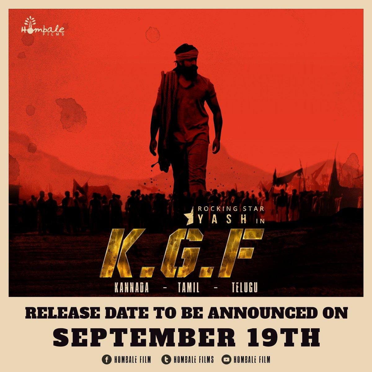 Hombale Films On Twitter Kgf Trailer Movie Release Date