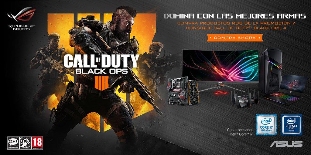 Resultado de imagen para ASUS  ROG Black Ops 4 para PC