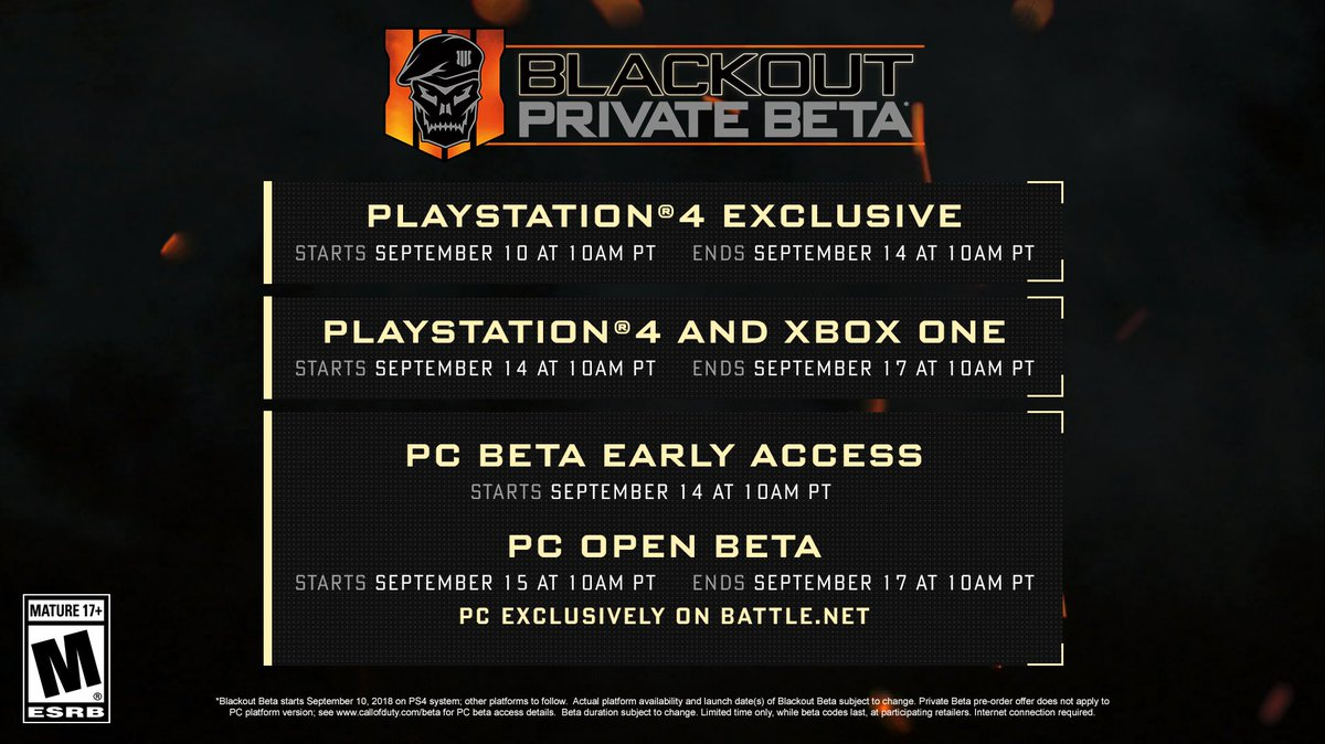 call of duty blackout beta codes