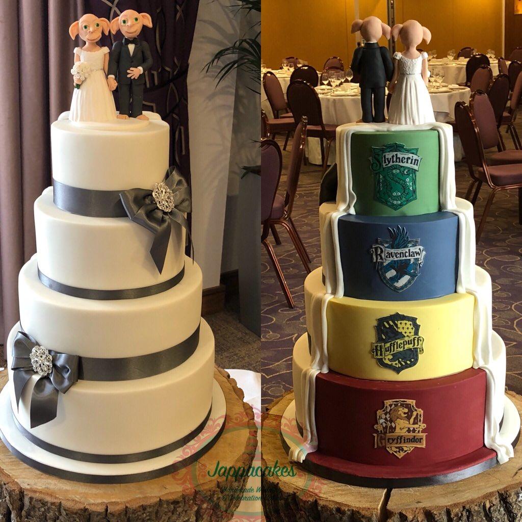 Harry Potter Wedding Cake.Jappacakes On Twitter Harrypotter Wedding Cake For A