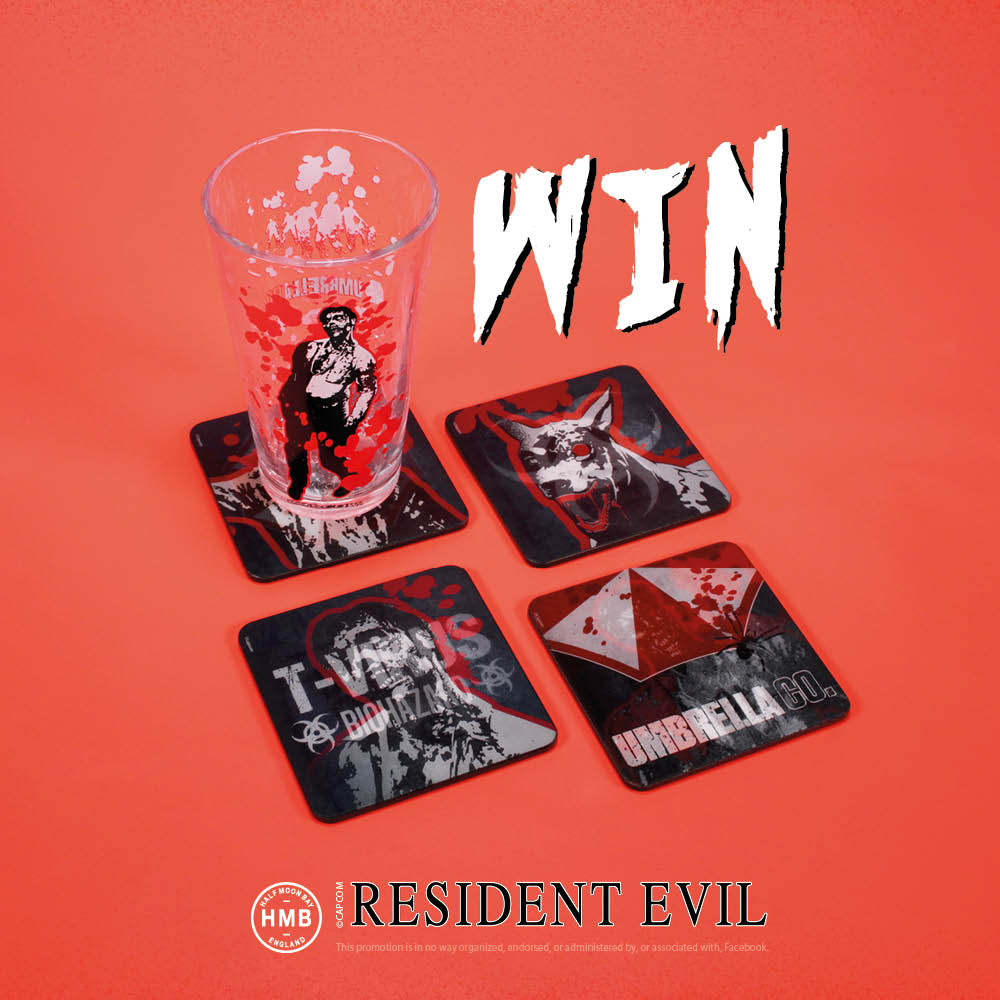 Competition time! Would you like to win our #ResidentEvil Cold Changing Glass and Set of 4 Coasters? Simply comment on our Facebook post and let us know your favourite Resident Evil game to be in with a chance of winning - ow.ly/UpBJ30lKRJj