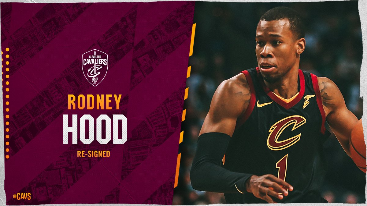 OFFICIAL: @rodneyhood has re-signed with the Wine & Gold!   DETAILS: https://t.co/lVdK559xUl   #AllForOne