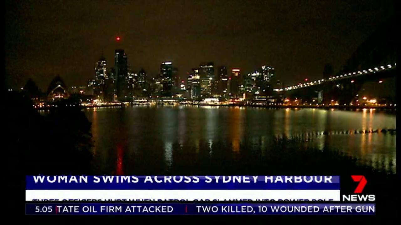 A woman has jumped into Sydney Harbour and swum all the way to the other side under the cover of darkness. #7News https://t.co/9m6aQKJao3