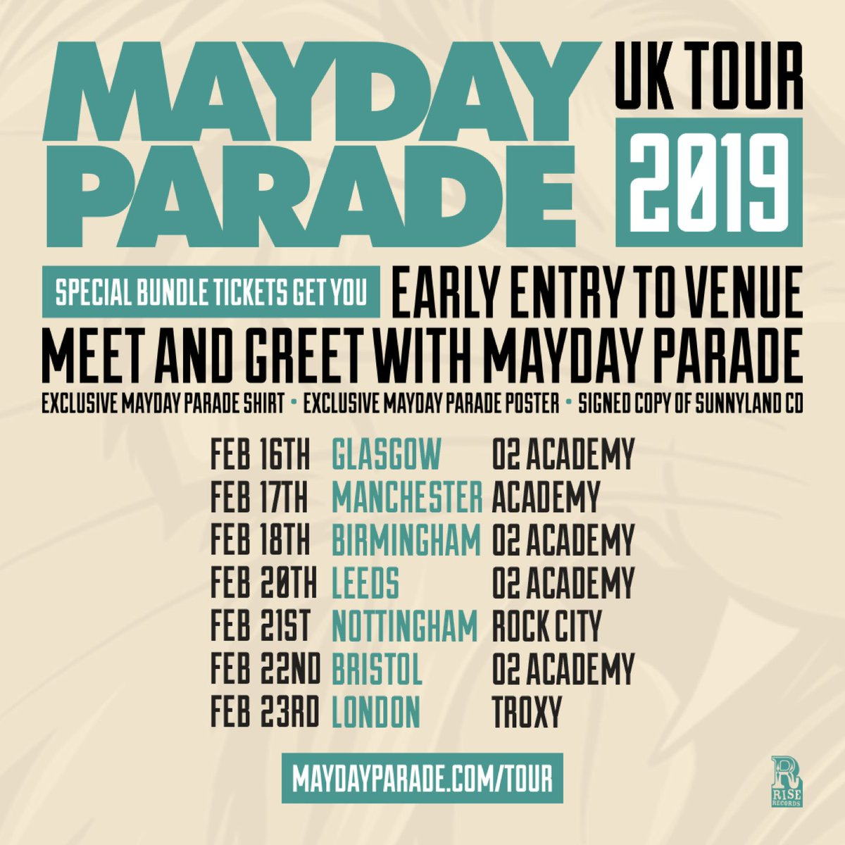 Mayday Parade On Twitter Vip Tickets For Our Uk Tour Are On Sale