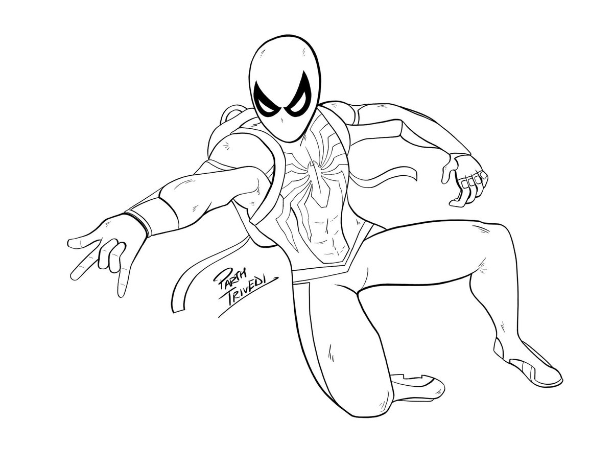 Parth Trivedi On Twitter I Have Been Hooked On Spidermanps4 Its Been So Long Since I Did A Spiderman Drawing So Trying It Out Today Drawn In Procreate Still A Long