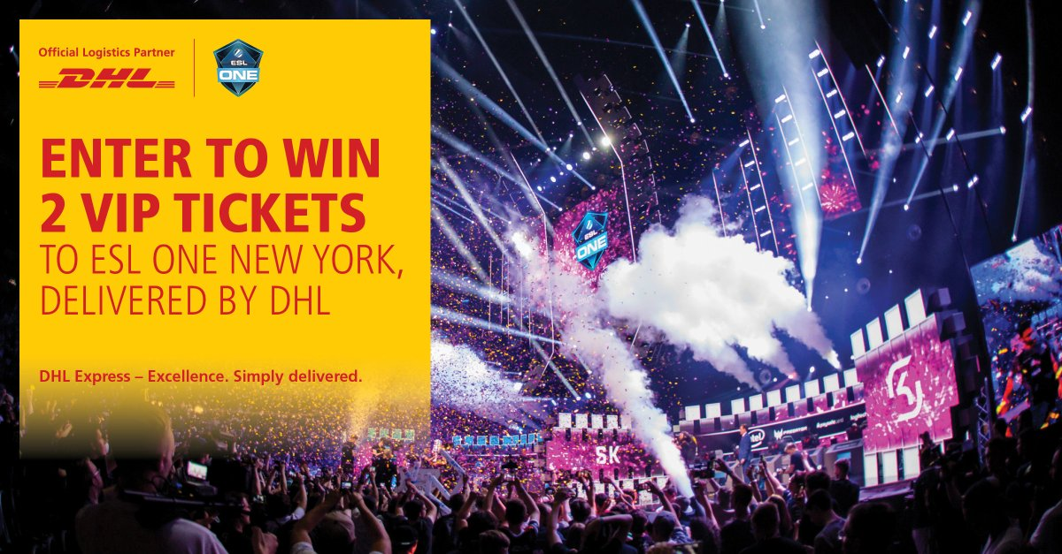 DHL and @ESL arecreating #MomentsThatDeliver. To win2 VIP tickets to#ESLOne in NY, follow @DHLUS and vote below on the DHL attribute that is needed to win at #CounterStrike: Global Offensive: A) Speed B) Innovation C) Delivery accuracy Terms apply. bit.ly/2O55EyL