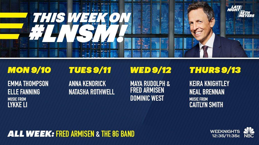 Weekly Late Night Ratings: September 10 - 14, 2018