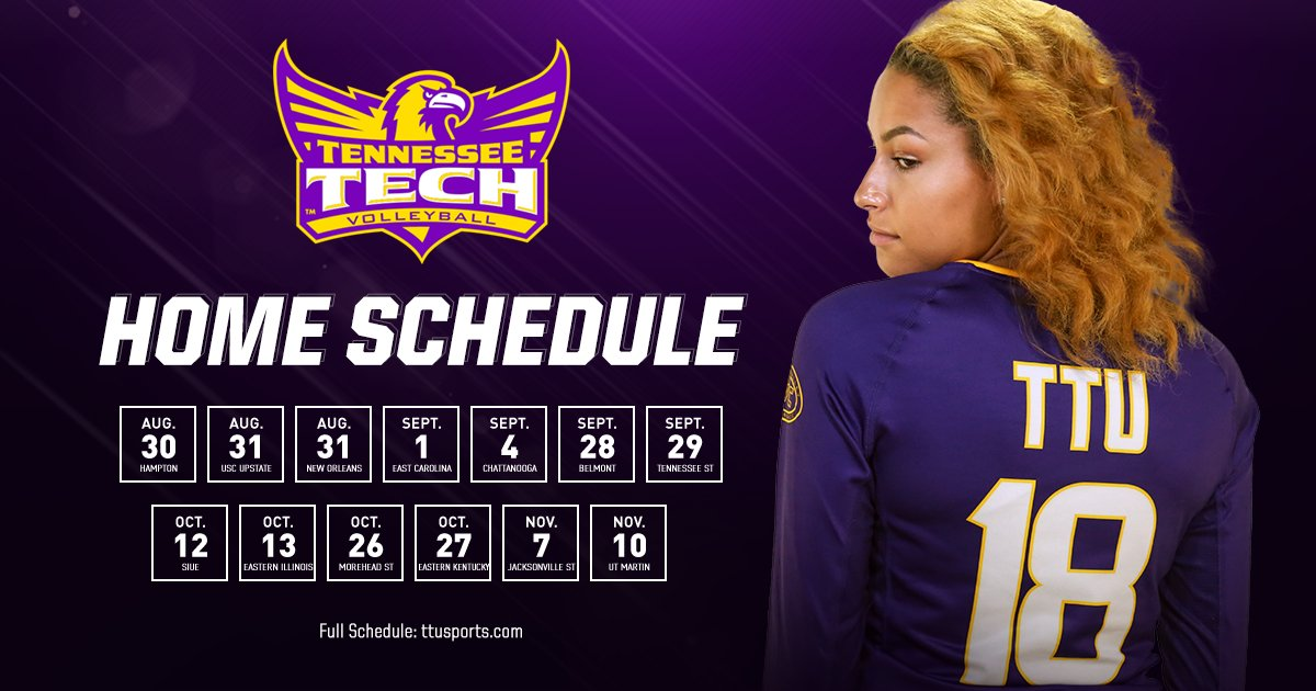 Tntech Calendar.Tennessee Tech Volleyball On Twitter Mark These Dates In Your