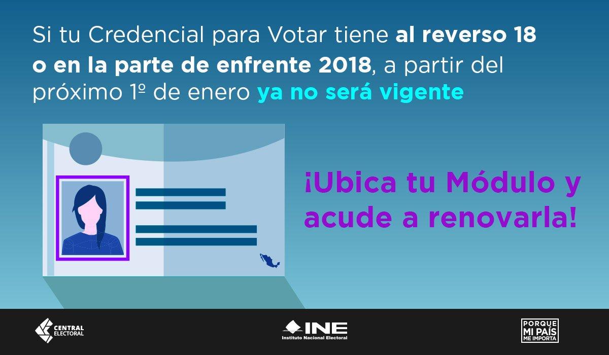 Ine Morelos On Twitter Si Tu Credencial Para Votar Tiene