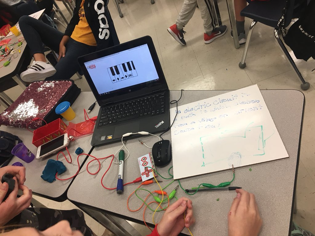 Dorianne Pagnotti On Twitter Asked Ss Today To Describe A Simple How Make Circuit Then Them Using Makeymakey Showme Markhamwoodsmspic Tyoxf3zlyf
