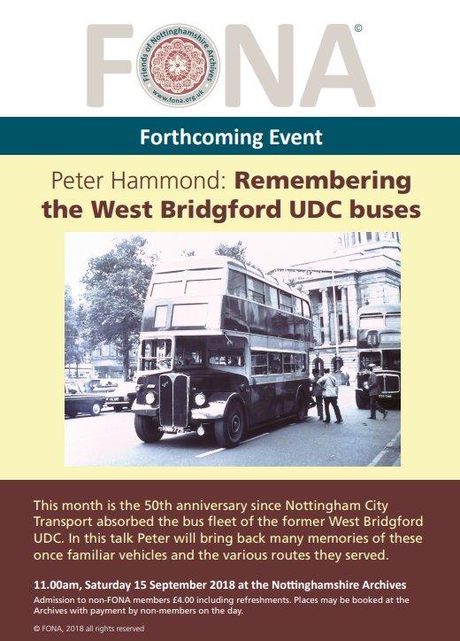Of West Bridgford Udc Buses Becoming Part Of Nct Peter Hammond Is Doing A Special Talk This Sa Ay At The Nottinghamshire Archives On Castle Meadow